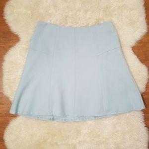 NWT LOFT Sky Blue A-Line Mini Skirt Size 6